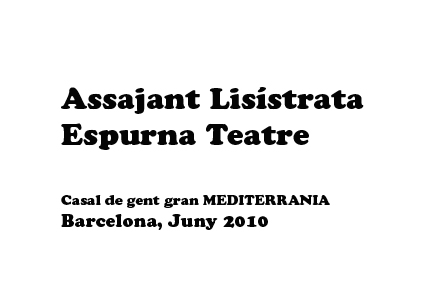 Cartell Lisistrata